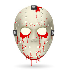 Bloody hockey mask on white background for vector