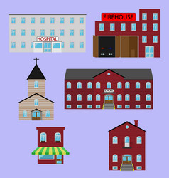 City buildings image vector