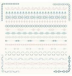Colorful sketched seamless borders and vector