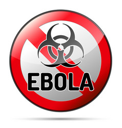 Ebola biohazard virus danger sign with reflect vector
