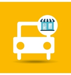 Ecommerce store car vehicle icon vector