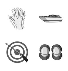 Medicine attraction and other monochrome icon in vector