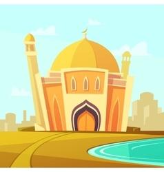 Mosque building vector