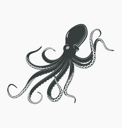 octopus or cuttlefish underwater spineless vector image