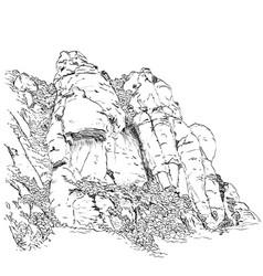 Picture of mount montserrat vector