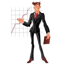 presentation businessman vector image