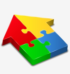 puzzle house vector image