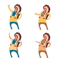 Set of indian chieves vector image vector image