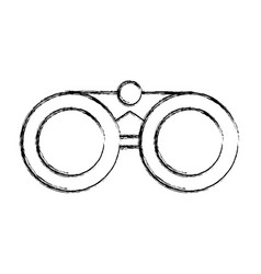 sketch draw binoculars cartoon vector image