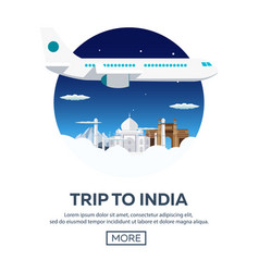 trip to india tourism travelling vector image