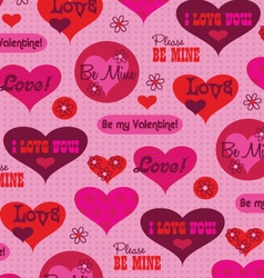 valentine message pattern vector image