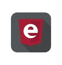 Web development shield sign - programming vector