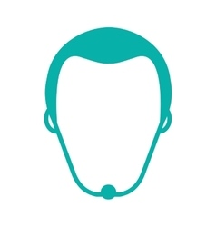 Faceless man with facial hair icon vector