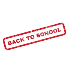 Back To School Text Rubber Stamp vector image