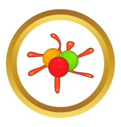 Paintball blob icon vector