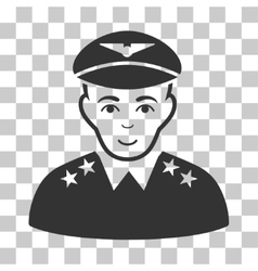 Military pilot officer icon vector