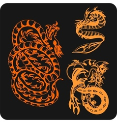 Chinese dragons - set vector