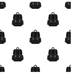 Hipster backpack icon in black style isolated on vector