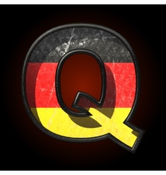Germany cutted figure q vector