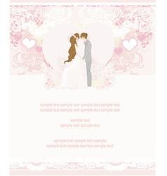 Elegant wedding invitation with wedding couple vector