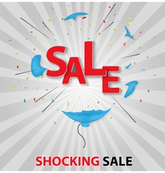 Shocked sale concept backgr vector