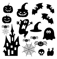 Icons for halloween vector