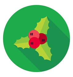 Flat design rowan berry circle icon vector