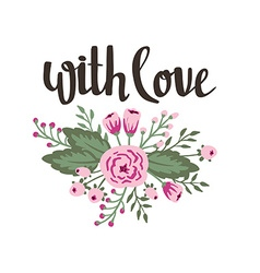 Poster template - with love wedding marriage save vector