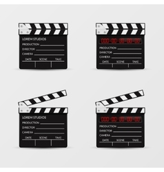 Movie clapperboard set vector