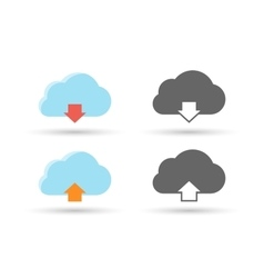 Cloud download and upload data vector image