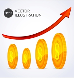 Finance growth abstract vector