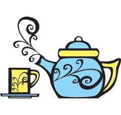Teapot set vector image