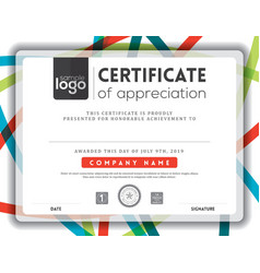Modern certificate background frame design templat vector