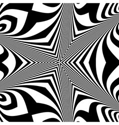 Black and white background optical vector
