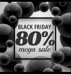 Black friday offer sale poster template with vector