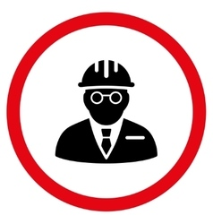 Blind engineer flat rounded icon vector