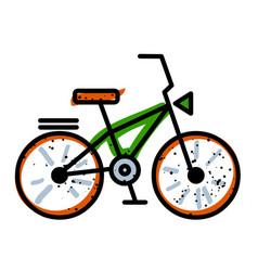 Cartoon image of bicycle icon bike symbol vector