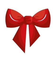 christmas bow ribbon icon vector image