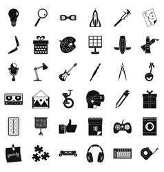 Creative idea icons set simple style vector