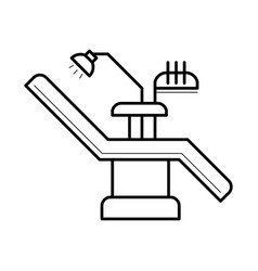 dentist chair and equipment icon vector image vector image