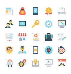 Design and development colored icons 5 vector
