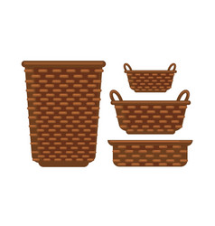 different sized baskets vector image vector image