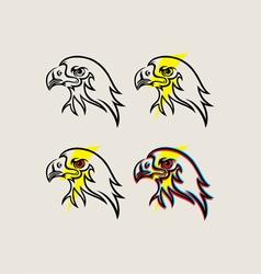 Eagle face with thunder vector