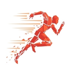 Fire running man vector