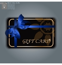 gift card with realistic ribbon vector image