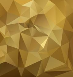 Gold beige yellow brown polygon triangular pattern vector