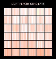 Light peachy color gradients collection bright vector