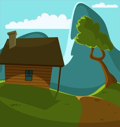 Mountain cabin vector