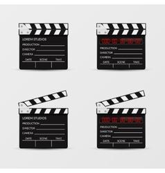 Movie clapperboard set vector image