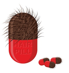Pills for hair growth hairy tablet of medi vector